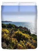 Bass Strait Ocean Landscape In Tasmania Duvet Cover