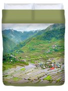 Batad Village And Unesco World Heritage Duvet Cover