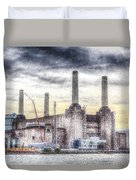 Battersea Power Station London Snow Duvet Cover