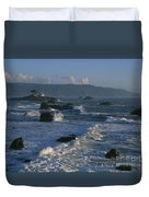 Battery Point Lighthouse At Sunset Duvet Cover