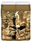 Bayon Faces - Angkor Wat - Cambodia Duvet Cover