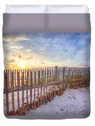 Beach Fences Duvet Cover