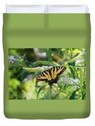 Beautiful Butterfly Pollination Duvet Cover