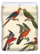 Beautiful Parrots Duvet Cover