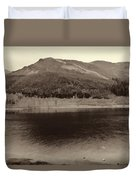 Beauty Of A Loch And Natural Surroundings In The Scottish Highlands Duvet Cover