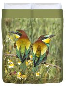 Bee-eaters Duvet Cover