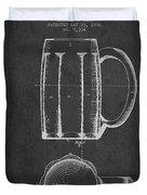 Beer Mug Patent From 1876 - Dark Duvet Cover