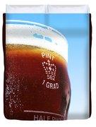 Beer Pint Glass Duvet Cover