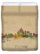 Beijing China Skyline Duvet Cover