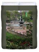 Bethesda Fountain - Central Park Nyc Duvet Cover