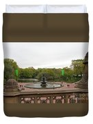 Bethesda Fountain Nyc Duvet Cover