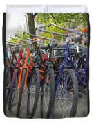 Bicycles In Amsterdam Duvet Cover