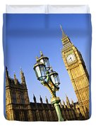 Big Ben And Palace Of Westminster Duvet Cover by Elena Elisseeva
