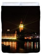 Big Ben And The House Of Parliment On The Thames Duvet Cover