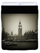 Big Ben On A Wintery Day Duvet Cover