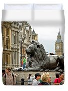 Big Lion Little Ben Duvet Cover
