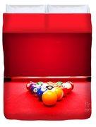 Billards Pool Game Duvet Cover
