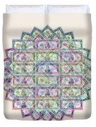 1 Billion Dollars Geometric Tan Duvet Cover
