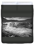 Black And White Waterfall Duvet Cover