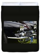 Black Corvette Duvet Cover
