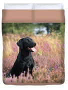 Black Labrador Dog Duvet Cover
