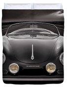 Black Porsche Speedster Duvet Cover
