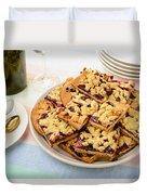 Blackberry Grated Pie Duvet Cover