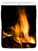 Blazing Campfire Duvet Cover