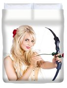 Blond Woman With Cupid Bow Duvet Cover