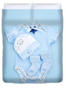 Blue Baby Clothes For Infant Boy Duvet Cover by Elena Elisseeva