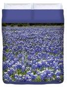 Blue Bonnet Carpet V7 Duvet Cover