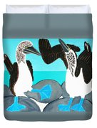 Blue Footed Boobies. Duvet Cover