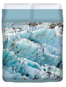 Blue Glacier Ice Background Texture Pattern Duvet Cover