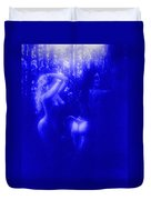 Blue Night With Wood Nymphs Duvet Cover