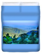 Blue Ridge Parkway National Park Sunset Scenic Mountains Summer  Duvet Cover