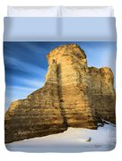Blue Skies At Monument Rocks Duvet Cover