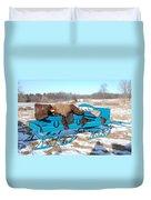 Blue Sleigh Duvet Cover