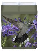 Blue-throated Hummingbird Duvet Cover