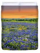 Bluebonnet Sunset  Duvet Cover