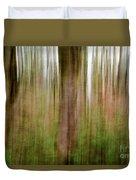 Blurred Trees Duvet Cover