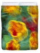 Blurred Tulips Duvet Cover