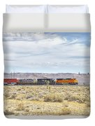 Bnsf 9112 Westbound From Boron Duvet Cover