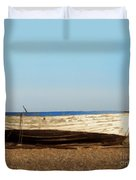 Boat On Shore 02 Duvet Cover by Pixel  Chimp