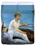 Boating Duvet Cover by Edouard Manet
