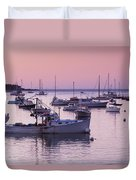 Boats In The Atlantic Ocean At Dawn Duvet Cover