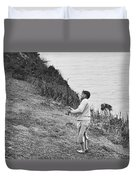 Bobby Jones At Pebble Beach Duvet Cover