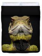 Bocourts Dwarf Iguana Choco Rainforest Duvet Cover