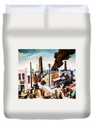 Boomtown Duvet Cover