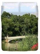 Bow Bridge Over The Lake Duvet Cover