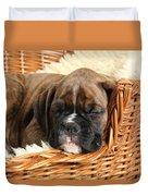 Boxer Puppy Duvet Cover